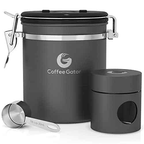 Coffee Gator Coffee Storage Canister & Mini Canister