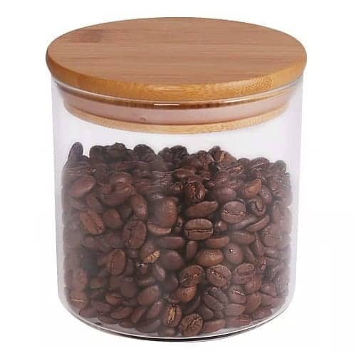 Glass Food Storage Canister for loose leaf tea, Coffee storage
