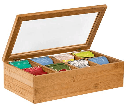 Sagler Tea Box Tea Storage Bamboo Natural