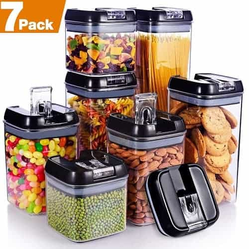 Air-Tight Food, Tea, Coffee Storage Canisters Set