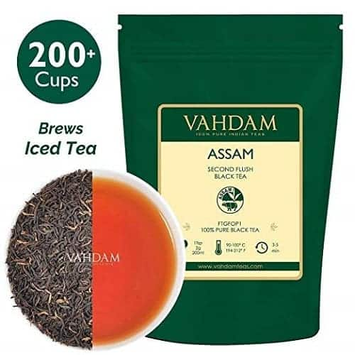 Vahdam Assam Black Tea - Single Origin Black Loose Leaf Tea