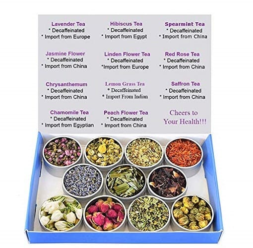 11 Tea – Tea Sampler - Flower Tea - Decaffeinated - Herbal - Gift Box - Loose Leaf Tea