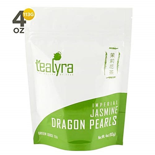Tealyra Imperial Jasmine Dragon Pearls - Loose Leaf Green Tea