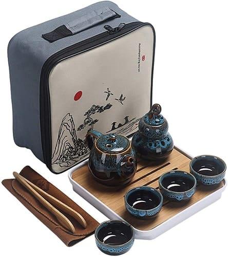 Ceramic Portable Travel Kungfu Tea Set