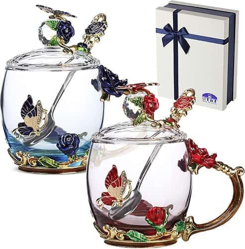 best glass tea cup set
