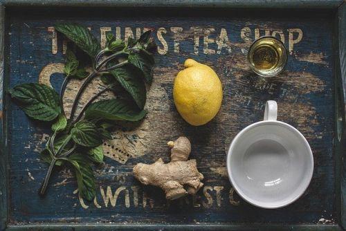 lemon ginger calming tea